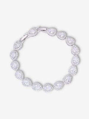 Teardrop Bracelet   Silver