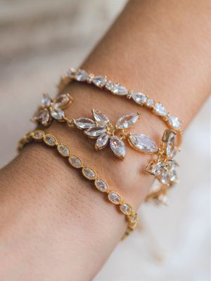 Cute Crystal Bracelet | Rhodium Gold