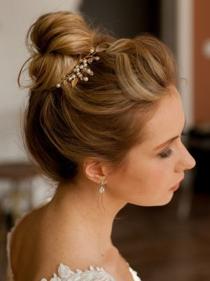 Sweet Leaves Hairpin | Gold