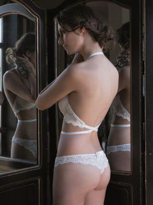 Brazilian Thong | Ivory Lace