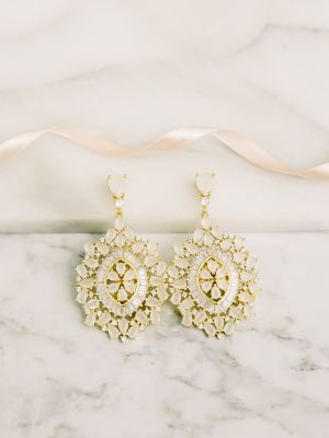 Elle | Ivory & Rhodium Gold