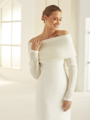 Off-Shoulder Shrug | Ivory Wool